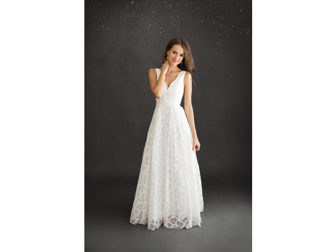 Svatební šaty FLORE bílé