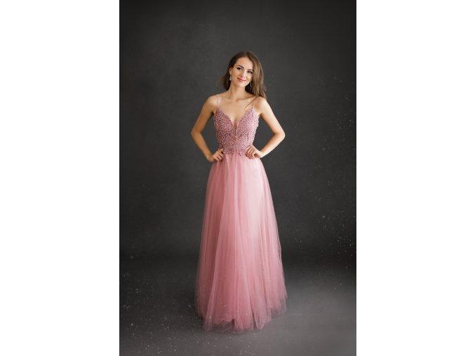 Plesové Šaty MANUELA růžové