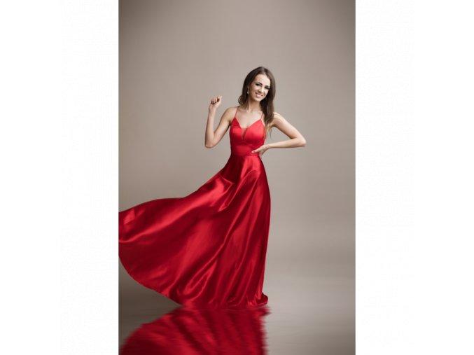 Společenské plesové Šaty DORIANE červené