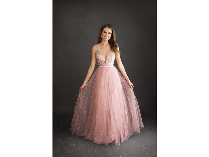 Plesové Společenské Šaty ELSA růžové