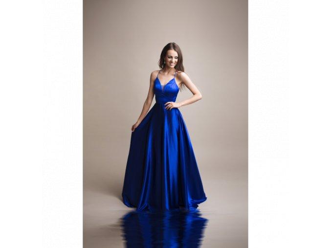 Společenské plesové Šaty DORIANE modré