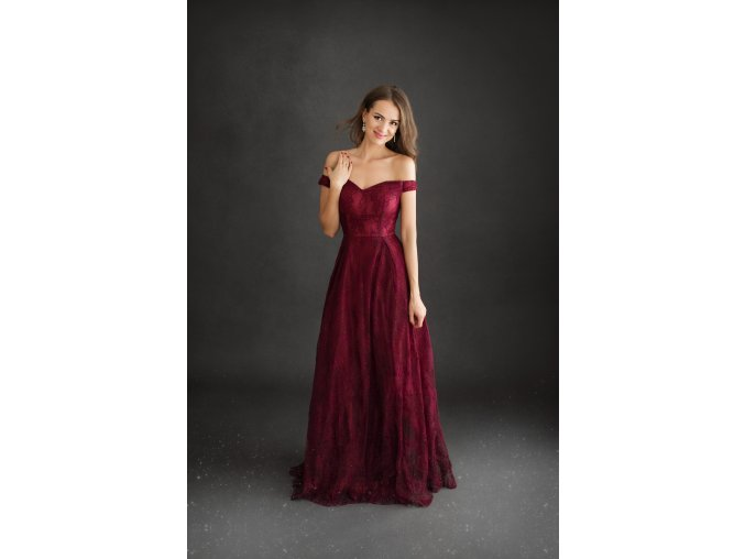 Plesové šaty EDWINA vínové