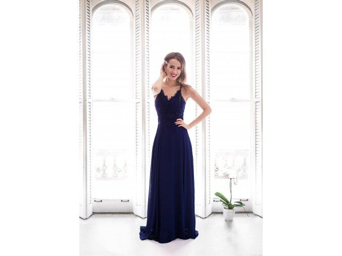 Plesové modré šaty