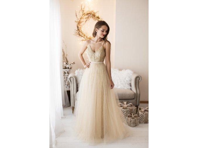 Maturitní šaty zlaté