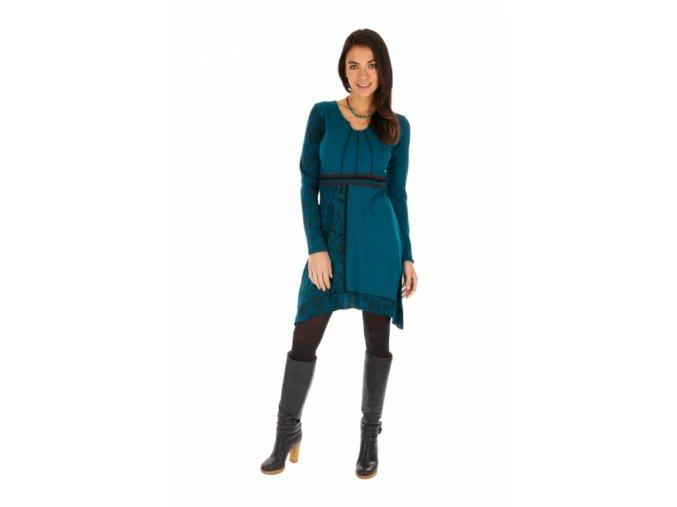 Bavlněné Šaty SIRA modré