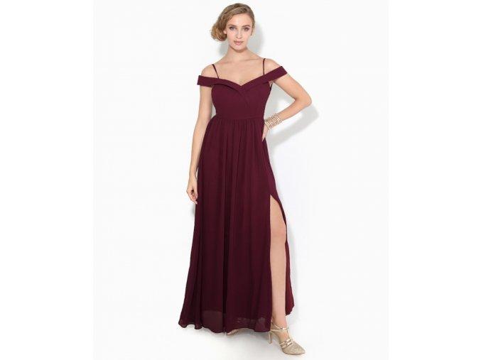 Šaty pro družičky ALICIA vínové