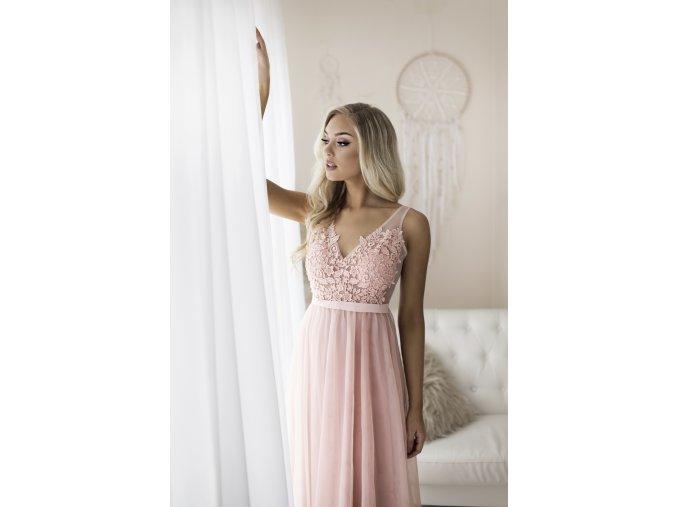 Společenské Šaty pro družičky CANDIE růžové