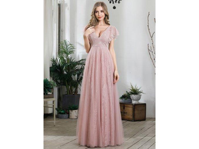 Krajkové Šaty pro družičky růžové