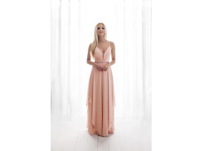 Družičkovské šaty růžové
