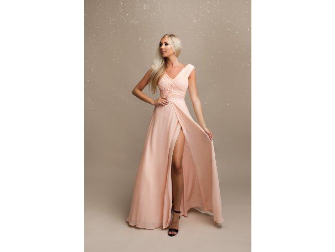Společenské šaty pro družičky OPALE růžové