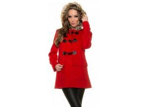 Dámský zimní kabát Koucla DK8038CV červený