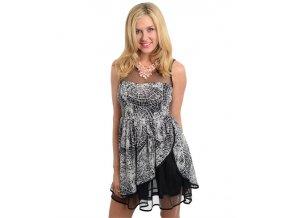 Dámské šaty NARANKA - black white