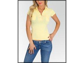 Dámské tričko polo FASHION A33-10723 žluté