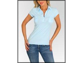 Dámské tričko polo FASHION B13-10723 modré