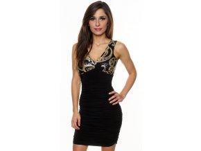Dámské společenské  šaty ELLEN BLACK GOLD