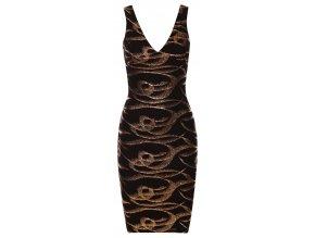 Dámské společenské  šaty ELSA BLACK GOLD