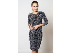 Společenské šaty NORAH METALLIC SILVER