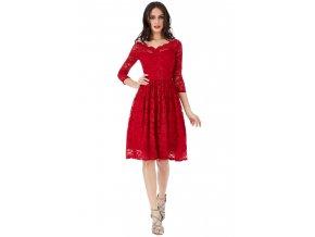 Krajkové šaty MELISSA RED