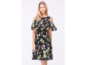 Letní květované šaty LEONE BLACK