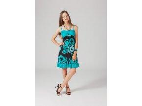Letní vzororvané šaty ETNO BLUE