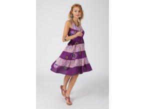 Letní šaty MANDALA FLOWER LILAC