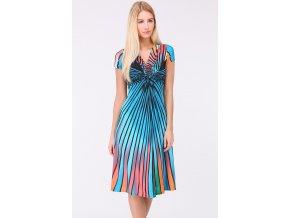 Letní vzorované šaty AGATHA BLUE