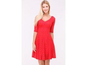 Krajkové šaty CYNTHIA RED