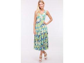 2Letní midi šaty OBELLA GREEN3