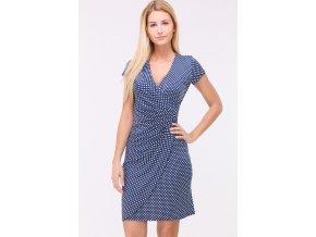Letní puntíkaté šaty CAMILLES BLUE1