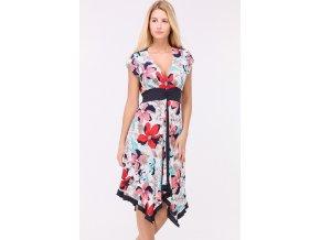 Letní Květované šaty SUZAN PINK1