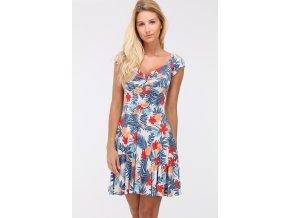 Letní šaty ALEXIA TROPICAL BLUE1