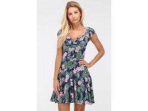Letní šaty ALEXIA TROPICAL GREEN BLUE1