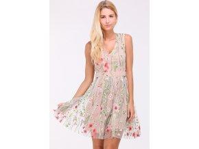 Šaty s vyšívanými květy VIOLA1