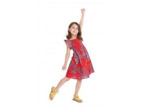 Dívčí bavlněné šaty RED1