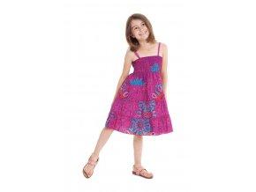Dívčí bavlněné šaty MÁJA1