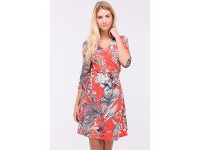 Letní šaty DIANE TROPICAL RED1