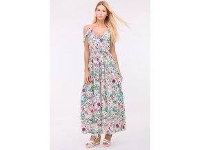 Letní dlouhé šaty MILA FLOWER1