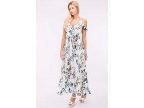 Dlouhé letní šaty JORDAN WHITEBLUE1