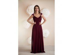 Plesové šaty dlouhé vínové