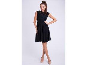 Společenské krátké černé šaty