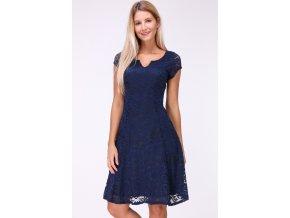 Krajkové šaty tmavě modré