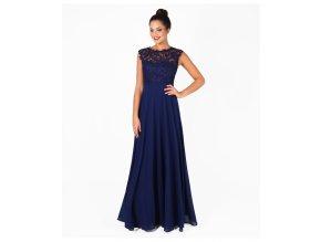 Tmavě modré plesové šaty