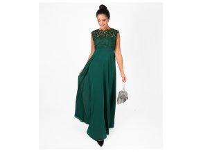 Tmavě zelené dlouhé šaty