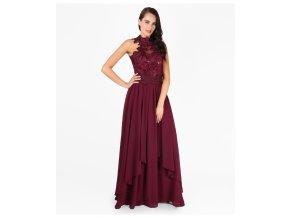 šaty OLYA vínové