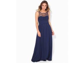Plesové tmavě modré šaty