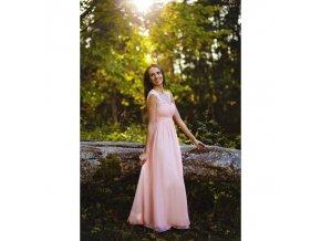 šaty růžové