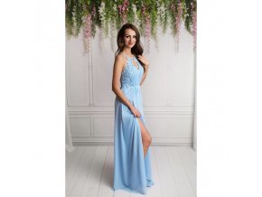 Večerní světle modré šaty