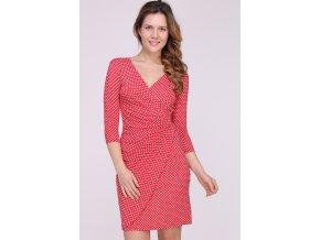 Letní puntíkaté šaty MYRIAM RED