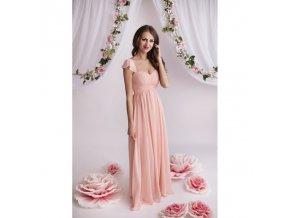 Růžové plesové šaty1