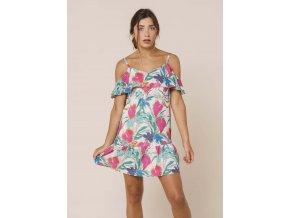 Letní šaty LORINA MULTICOLOR
